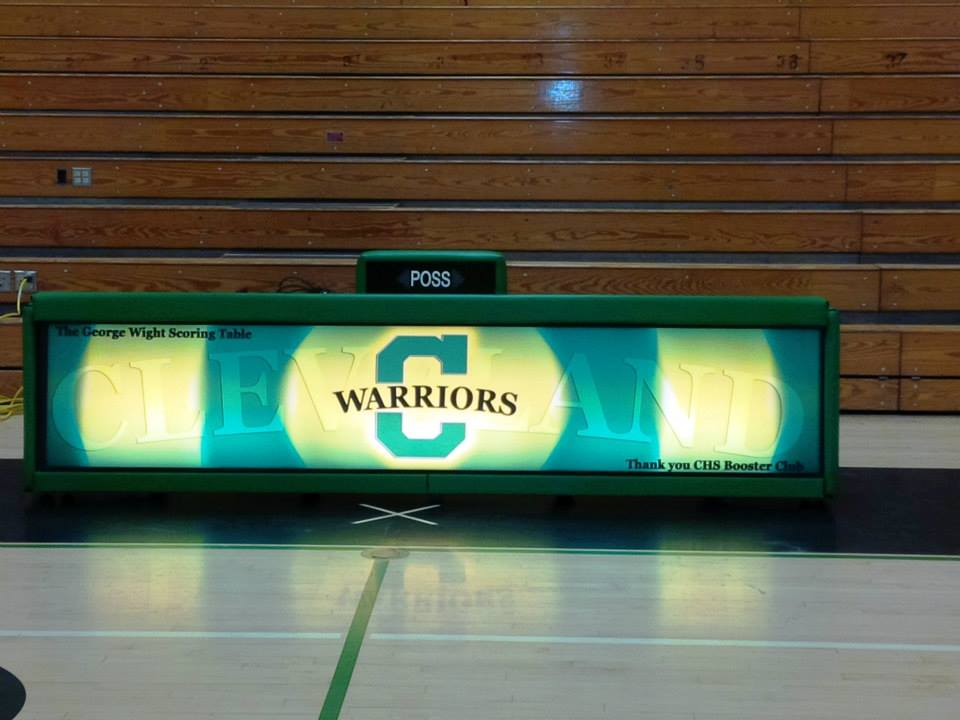 Cleveland High School - 10' Freestanding scoring table
