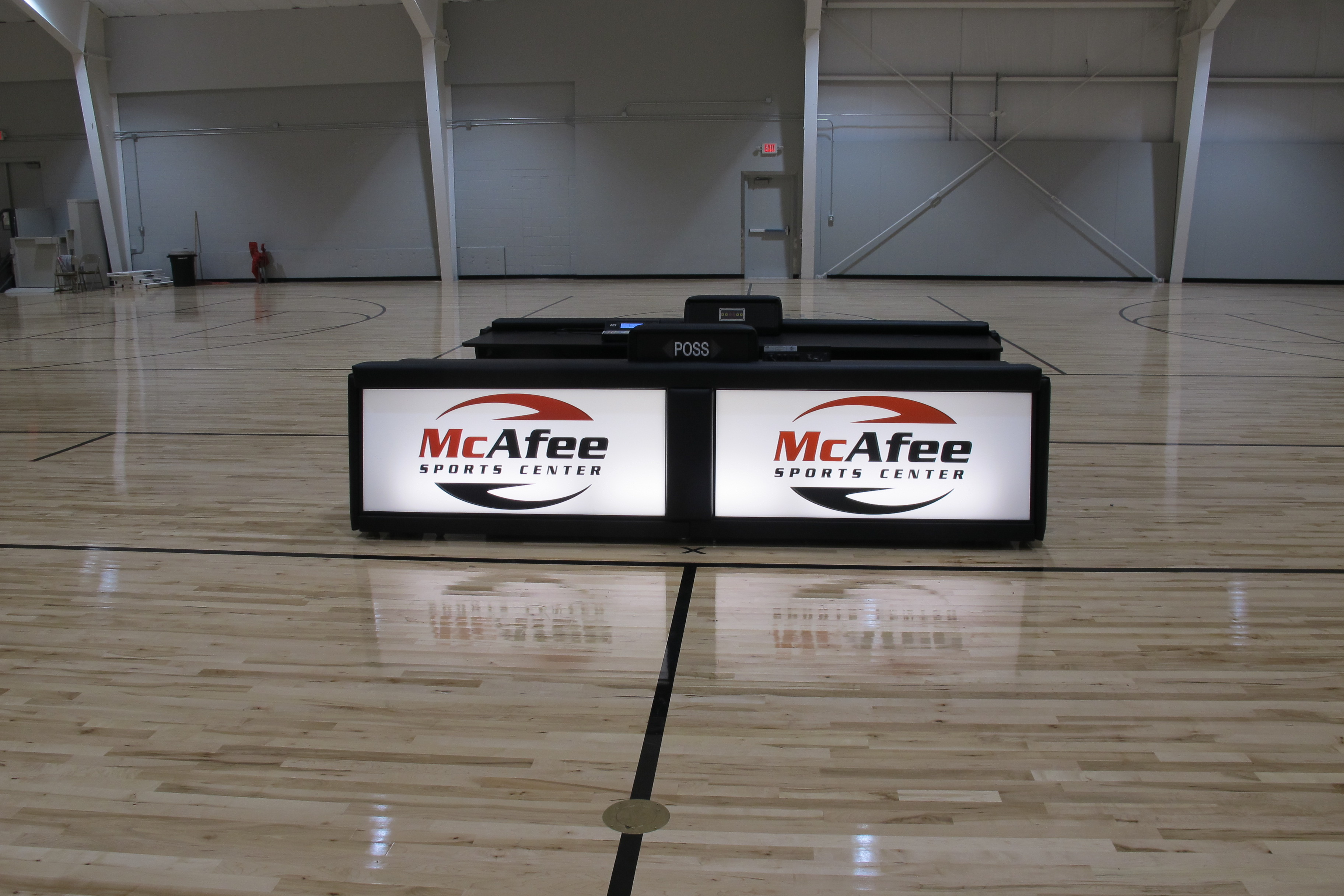 McAfee Sports Center Scoring tables