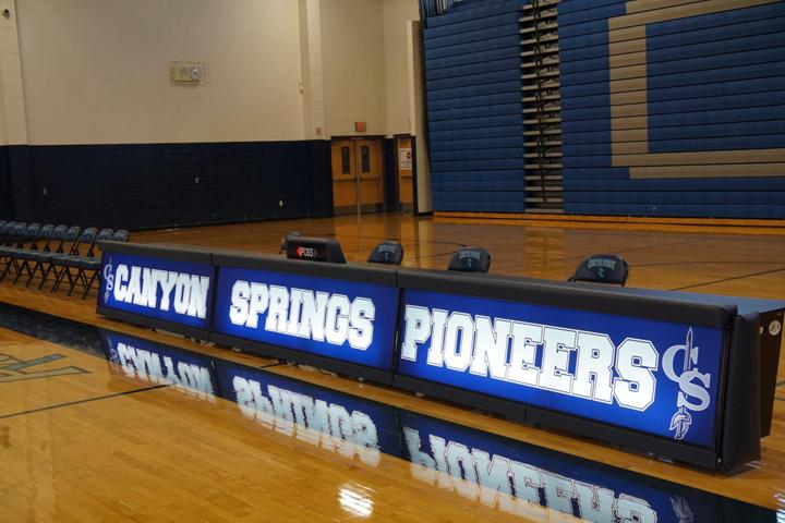 Canyon Springs High School - Freestanding Score Tables