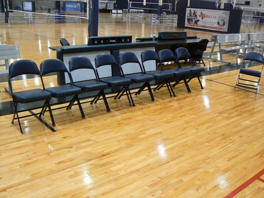 Fieldhouse USA scoring tables and chairs