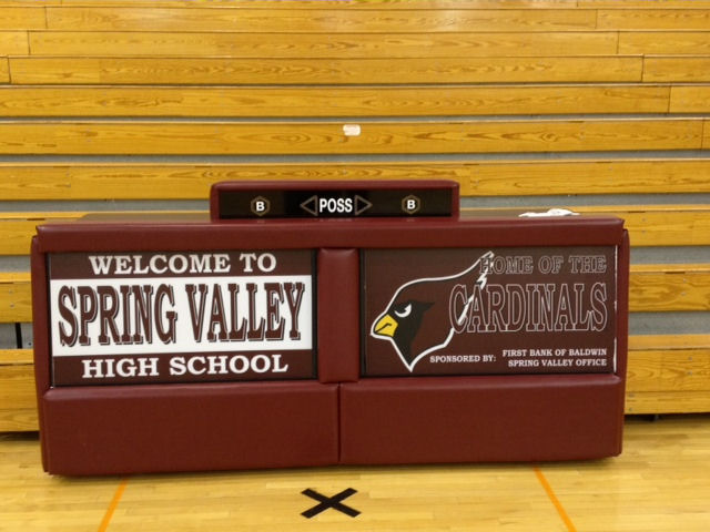 Spring Valley - 8' Bleacher double panel score table