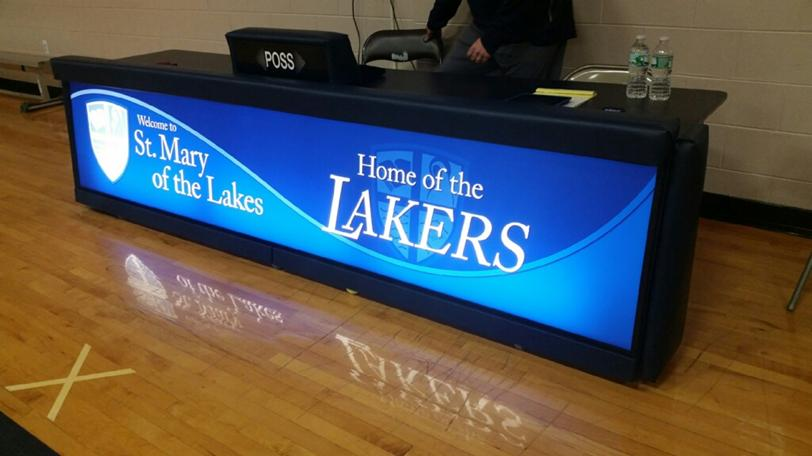 St. Mary of the Lakes freestanding score table