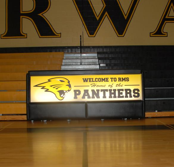 Riverwatch Middle School 8' bleacher scoring table