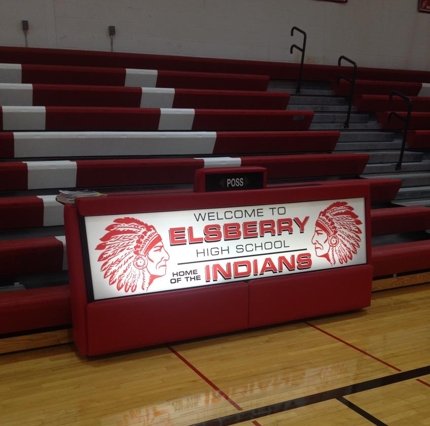 Elsberry High School - 8' Bleacher single panel