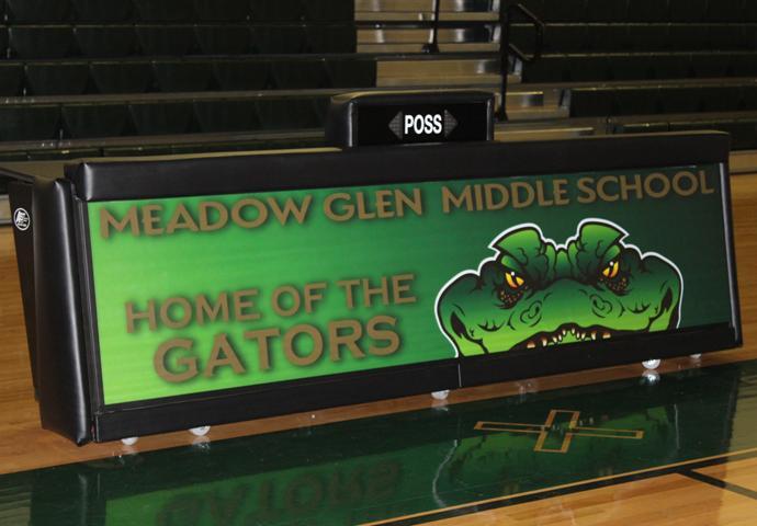 Meadow Glen MS - 8' Freestanding scoring table